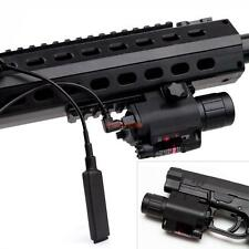 2in1 Tactical CREE Q5 LED Flashlight Red Laser Sight Combo fr Shotgun Glock AR
