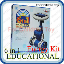 6 in 1 Educational Game Hybrid Solar Energy Robot Kit for Children Kids Toy Blue