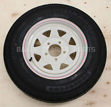 "SUNRAYSIA WHITE 14"" HOLDEN HQ WITH 185 LT TYRE ! Trailer Parts"