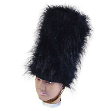BLACK BEARSKIN TALL HAT GUARD ADULT UNISEX FANCY DRESS PARTY