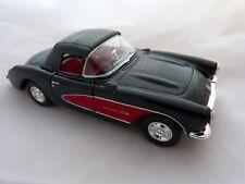 Welly  Chevrolet 1957 Corvette Cabrio geschlossen  in schwarz ca. 12 cm lang