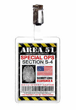 Area 51 Special Ops Alien ID Badge Card Cosplay Novelty Prop Costume Christmas