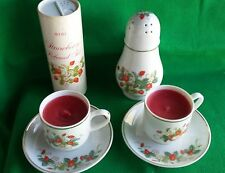 Avon Strawberry Talc Sugar Shaker Teacup Candles (2) 1979