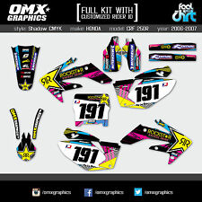 HONDA CRF 250 R decals stickers graphics kit 250R 2006 2007 SH CMYK