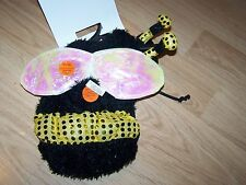 Size XS X Small Honey Queen Bumble Bee Dog Pet Halloween Costume New LED Lights