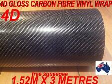 OZ 4D Gloss Carbon Fibre Car Vinyl Wrap Sticker1.52 X 3 metre,  Wrap full Car