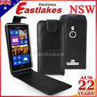 Black Flip PU Leather Case Cover Pouch For Nokia Lumia 925