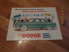 1953 ACTION CAR OF AMERICA...'53 DODGE AUTO SALES BROCHURE POSTER DMA-8102-9-52