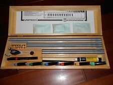 UNITECH PROFESSIONAL GRADE LETTERING SYSTEM WITH WOOD CASE --- LOT 853