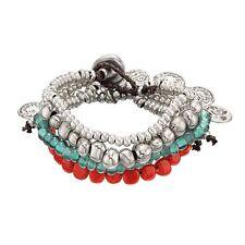 """Uno De 50 Silver Bracelet with Beads & Coins """"SeaDogs / Perrillas"""" UNOde50"""