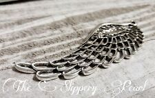 Large Angel Wing Pendant Filigree Silver 100mm Wing Pendant 4 Inch Ornate