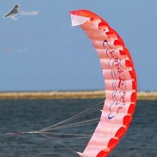 1.4M Dual Line Stunt Sports Beach Power Parachute Parafoil Kite Red AUS