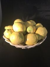 Made In Spain Ceramic Fruit Lemons Bowl