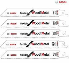 BOSCH S922HF Reciprocating Saw Blades SHARK SABRE LEGNO METALLO Recipro Pacco da 5
