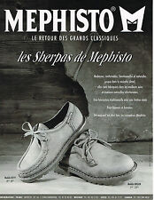 PUBLICITE ADVERTISING 015  1994  MEPHISTO   chaussures  SHERPAS
