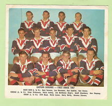 #D88.  1967  EASTERN SUBURBS ROOSTERS RUGBY LEAGUE PICTURE - DAILY MIRROR