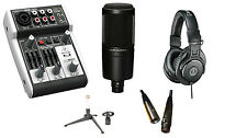 Behringer 302USB Mixer + Audio Technica AT2020 Mic + ATH-M30x Headphones PACKAGE