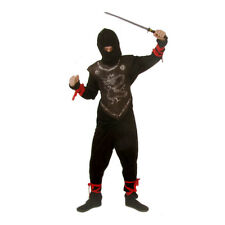 Kids Ninja Halloween Fancy Dress Costume Childrens Full Outfit 6 - 8 Yrs