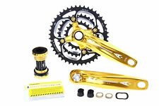 Aerozine X12 MTB Bike Cycling Crankset/9s 10s 44/32/22T 170mm 175mm/833g/Gold