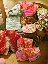 Lot of 18 Vintage Vera Bradley Purses Totes & Accessories Some Flawed, Some Not