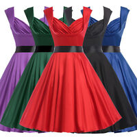 VINTAGE 40S 50'S STYLE SWING PINUP EVENING PLUS SIZE PROM PARTY DRESS