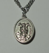St Apollonia Holy Medal & Chain Patron of Dentists Toothache & Tooth Diseases