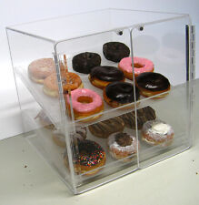 Self Serve Pastry and donut display case 2 trays deli bakery convenience candy