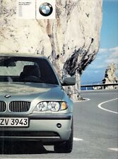 BMW 3-Series Saloon 2002 UK Market Brochure 316i 318i 320i 325i 330i 320d 330d