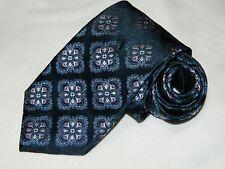Men's Cremieux  Floral  Blue 100%Silk Neck tie made in USA