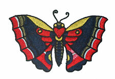 A950 Aufnäher Patch Rockabilly Emo new School Tattoo Schmetterling gelb rot