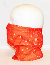 Multi use Biker Orange Cycling Neck Tube Scarf Snood Face Mask Warm Bandana