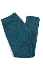 MiH Jeans Teal Floral Pattern Cotton High Rise Slim Skinny Jeans Size 28
