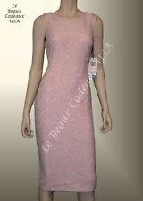 IVANKA TRUMP Women Dress Sze 6 ROSE Below Knee FLORAL LACE Sleeveless Dressy LBC