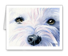 WEST HIGHLAND TERRIER Set of 10 Note Cards With Envelopes
