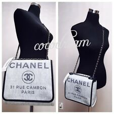 New Chanel 2016 Deauville Classic Flap Messenger Bag Cross Body WOC Dress Clutch
