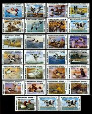 COMPLETE - NH SETS OF NEW JERSEY STATE DUCK STAMPS - INCLUDES ERRORS  - $419.50