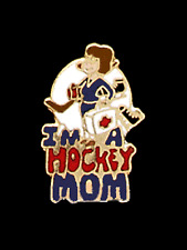 I'm A Hockey Mom Lapel Pin CARRYING STICK & FIRST AID KIT