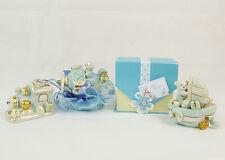 Bomboniera Battesimo/nascita orsetto con mezzo celeste e scatola bimbo