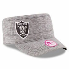 New Era Oakland Raiders Women's Gray Team Mist Military Adjustable Hat