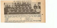 St. John's & South Haven Michigan 1929 Football High School Team Picture