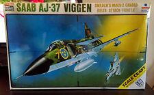 RARE Vinatge ESCI 1:48 Sweden Mach 2 Delta SAAB JA-37 VIGGEN #SC-4018 NEW/SEALED