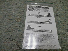 Whiskey Jack  decals 1/144 Set 144-009 Northwest Territorial L188 Electra   G96