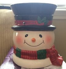 """NEW In Box Scentsy Holiday """"Bluster"""" Full-size Warmer, Snowman, Winter"""