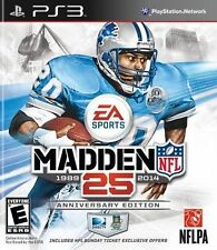 MADDEN NFL 25 PS3 (Sony Playstation 3, 2013) Anniversary Edition Excellent MINT!