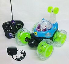 3D STUNT CAR BEN 10 REMOTE CONTROL RECHARGABLE LIGHT MUSIC TOYGIFT TOYS