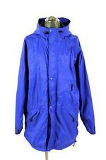 mens blue HELLY HANSEN hooded raincoat full zip coat waterproof packable LARGE