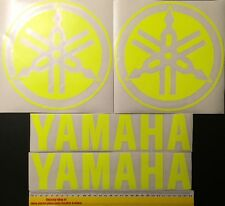 2x Fluro Yellow V Rossi 300mm Stickers Fairing, R6 R1 YZF Suitable For Yamaha