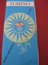 LIBRETTO DEPLIANT TORINO SPORT INVERNALI SOLE ANNI'60