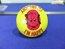 vtg badge novelty tin badge im happy im grouchy1960 premium gum comic hong kong