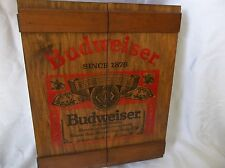 Vintage BUDWEISER 1876 Can Display Cabinet / Case W/Shelves Nice Shape